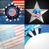 Stylish set of american independence day background Royalty Free Stock Image