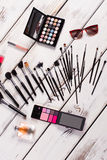 Stylish set of female cosmetics. Royalty Free Stock Image