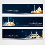 Stylish set of ramadan banners Royalty Free Stock Photo