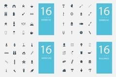 Stylish set of 4 themes and icons Royalty Free Stock Photo