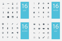 Stylish set of 4 themes and icons
