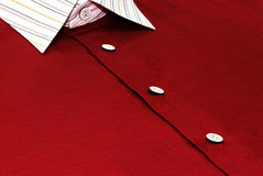 Stylish Shirt. In maroon color for man Stock Images