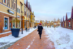 The stylish shopping in Kiev Royalty Free Stock Image