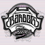 Stylish sign for a barber shop. Stylish vector sign for a barber shop Stock Images