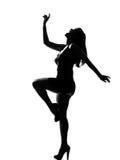 Stylish silhouette Royalty Free Stock Image