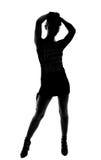 Stylish silhouette of Caucasian woman posing Stock Image