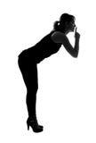 Stylish silhouette of Caucasian woman posing Royalty Free Stock Photo