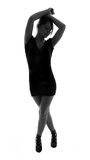 Stylish silhouette of caucasian woman posing Stock Photo