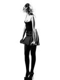 Stylish silhouette woman Royalty Free Stock Photo