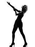 Stylish silhouette woman Stock Photography