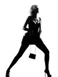 Stylish silhouette woman Stock Images