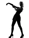 Stylish silhouette woman Royalty Free Stock Images