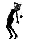 Stylish silhouette woman Stock Photos