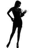 Stylish silhouette woman full length Stock Photos