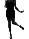 Stylish silhouette woman legs Stock Images