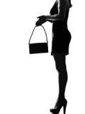 Stylish silhouette woman legs Royalty Free Stock Photo