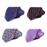 Stylish silk male tie ( necktie ) on white. Stock Photography