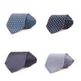 Stylish silk male tie ( necktie ) on white. Royalty Free Stock Photos