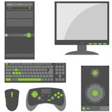 Stylish, Simple External Computer Parts Stock Images