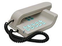 Stylish simple grey office phone isolated Stock Photos