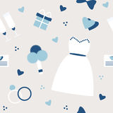 Stylish simple wedding background in blue colors Stock Photo