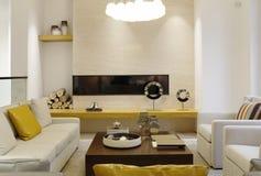 Stylish sitting room in the villa Stock Photos