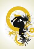 Stylish  skater with graffiti tags Royalty Free Stock Photo