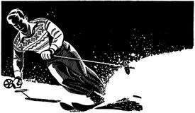 Stylish Skier vector illustration