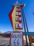 Stylish Skyliner Motel at Route 66 - STROUD - OKLAHOMA - OCTOBER 16, 2017 Stock Photo