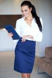 Stylish slender beautiful young woman Royalty Free Stock Images
