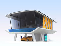 Stylish smart house concept Royalty Free Stock Images