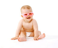 Stylish smiling baby Stock Photo