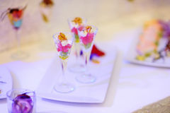 Stylish snacks on an event party Stock Image