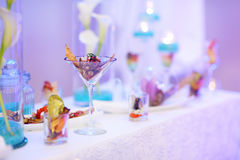 Stylish snacks on an event party Royalty Free Stock Photo