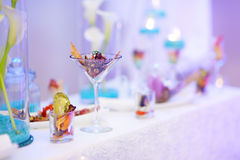 Stylish snacks on an event party Royalty Free Stock Photography