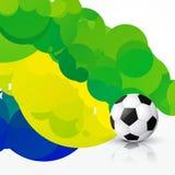 Stylish soccer design Royalty Free Stock Photos