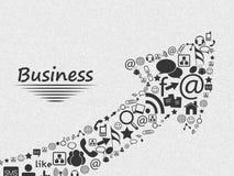 Stylish social media and marketing icons. Royalty Free Stock Images