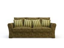 Stylish sofa. Stylish 3d sofa isolated on the white background Stock Image