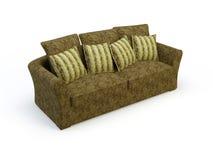 Stylish sofa. Stylish 3d sofa isolated on the white background Stock Images