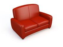 Stylish sofa. Stylish 3d sofa isolated on the white background Royalty Free Stock Photography