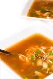 Stylish soup bowls Stock Images