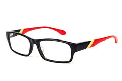 Stylish specs over white Stock Photos