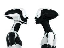 Stylish sportive robots Stock Image