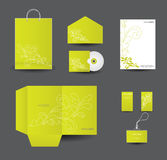 Stylish stationery design set Royalty Free Stock Images