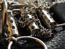 Stylish steel chain belt Royalty Free Stock Photography