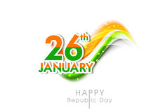 Stylish sticker design for Happy Indian Republic Day. Royalty Free Stock Photography