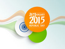 Stylish stickers design for Indian Republic Day celebrations. Royalty Free Stock Photography