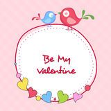 Stylish sticky design for Happy Valentines Day celebrations. Royalty Free Stock Images
