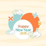 Stylish sticky designs for Happy New Year 2015 celebrations. Stock Images