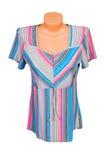 Stylish striped dress. Royalty Free Stock Images
